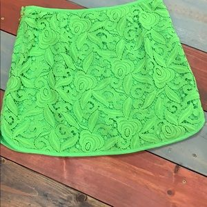Juicy Couture Lime Green Mini Skirt